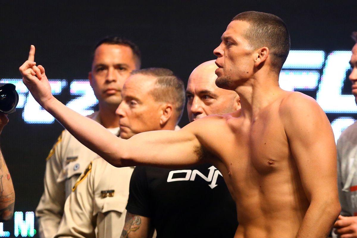 Nate Diaz pre fight